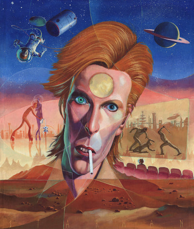 Jon Berkeley Limited edition Giclee print Starman wydr - digital art gallery