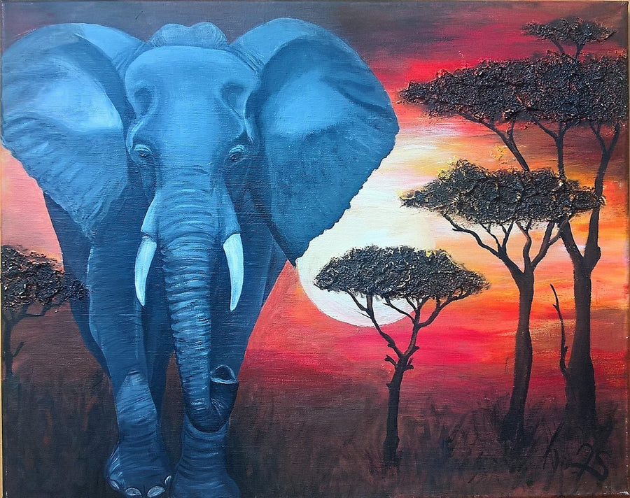 Juliane Acrylic Elephant wydr - digital art gallery