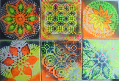 JuMA Gemälde 6-pack flowers crazy crochets wydr - digital art gallery