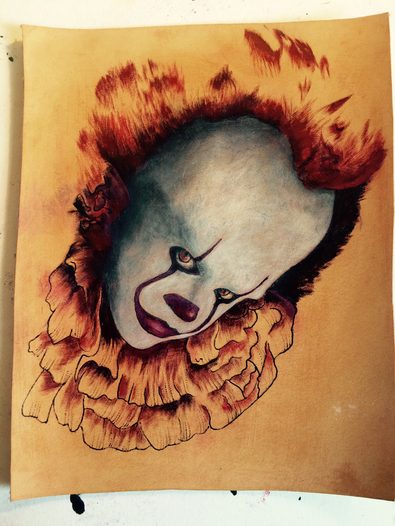 "Katarin Tattoo on leather ""It"" wydr - digital art gallery"