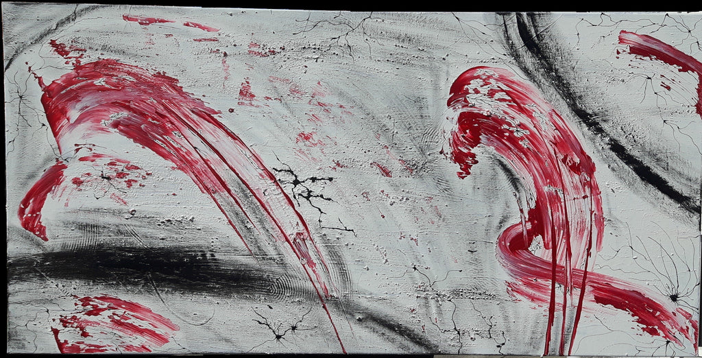 LainIsLain Acryl, Canvas Red Vs Black vs White wydr - digital art gallery