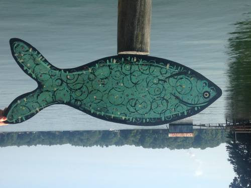 Leslie karpinski acrylic Norman the dockfish wydr - digital art gallery