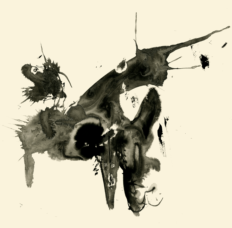 Milan DelVecchio Sumi Ink printed on archival watercolor paper Beastie wydr - digital art gallery