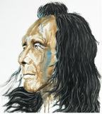 Moran ink and pastel on canvas Native American wydr - digital art gallery