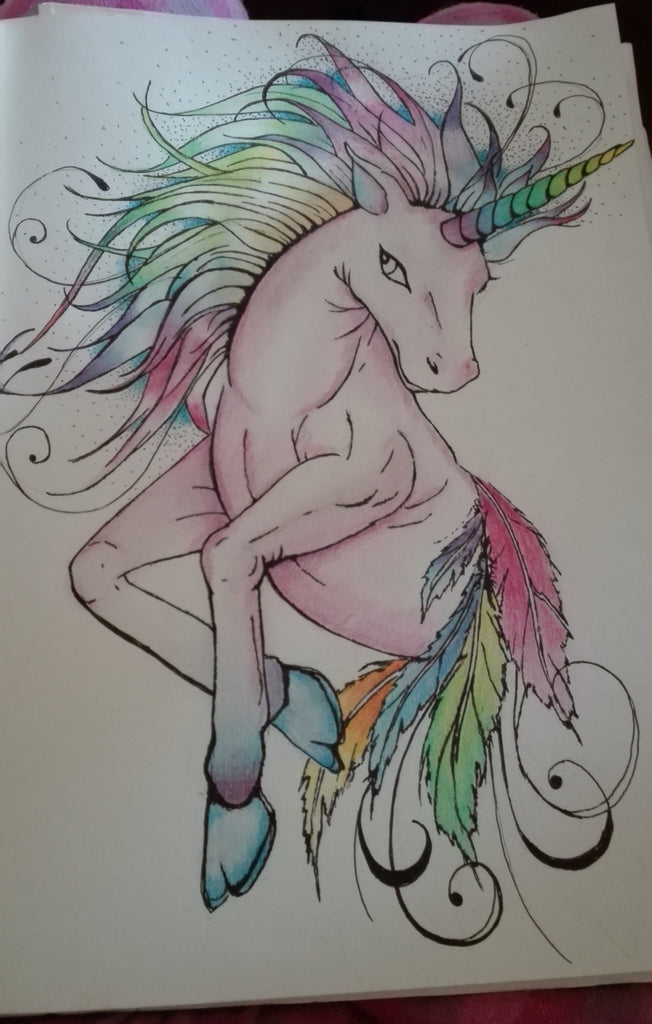 Nadine Horn. Artwork Mixed Media ... Unicorn wydr - digital art gallery