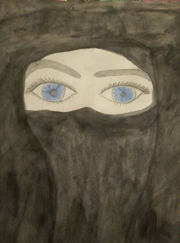 Noran painting Blue eyes wydr - digital art gallery