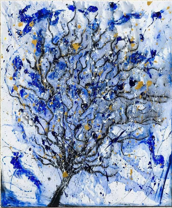 Oliver Hojas Acrylic, water, glitter Magical Tree of Life wydr - digital art gallery