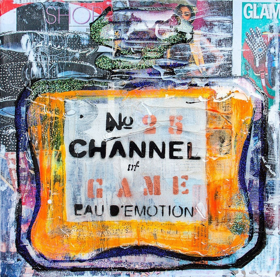 POP.ART.STUDIO acrylic, collage, resin Channel of Game n26 wydr - digital art gallery