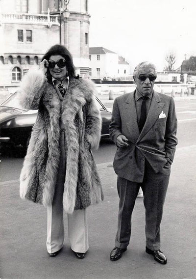Quality Vintage - Photography Archive Photography - Silver Gelatin Print Daniel Angeli - Jackie & Aristotle Onassis, St. Germain en Laye, 1970 Original press print Printed 1970 wydr - digital art gallery