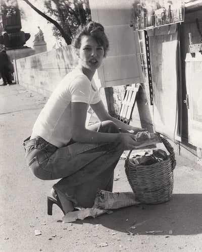 Quality Vintage - Photography Archive Photography - Silver Gelatin Print Jane Birkin, Paris, early 1970's Printed 1970's wydr - digital art gallery