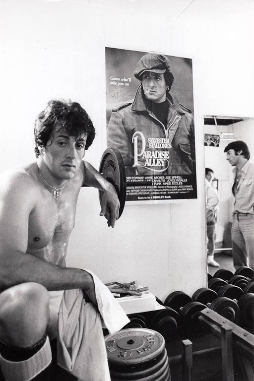 sylvester stallone in training for rocky ii 1978 original vintage