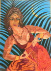 Rajnish Awasthi Acrylic Girl dancing in moon light. wydr - digital art gallery