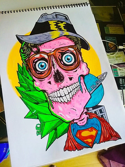 "Rufo Rotuladores ""Clark Kent is dead"" wydr - digital art gallery"