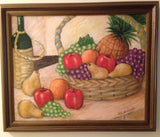 Sandi Rosenthal Still Life with Basket of Fruit wydr - digital art gallery