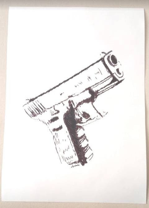 Shaiban painting Glock17 wydr - digital art gallery