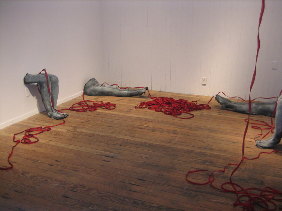 Sondra Schwetman installation Red Line of Fate wydr - digital art gallery