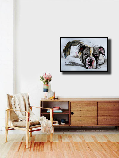 soso kumsiashvili acrylic on paper american bulldog wydr - digital art gallery