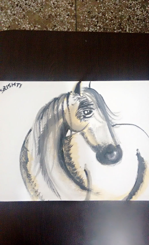 Srishti Singh Acrylic,poster The white horse wydr - digital art gallery