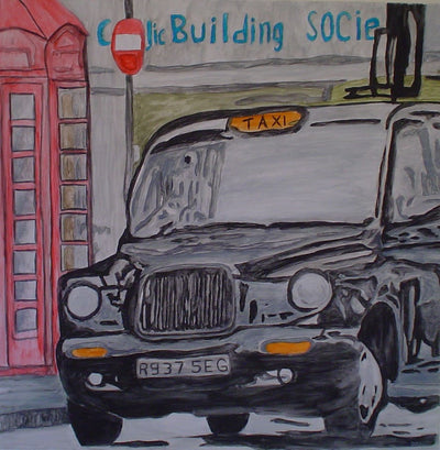 Stephan Nater Water Colour London Taxi wydr - digital art gallery