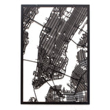 Werkstatt Frau Schneize Lasercut 3d City Map New York wydr - digital art gallery