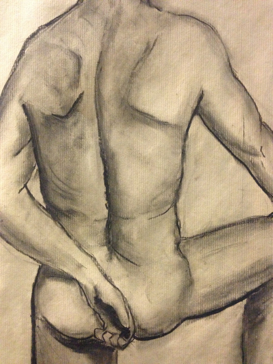Zhaval charcoal Man from the back wydr - digital art gallery