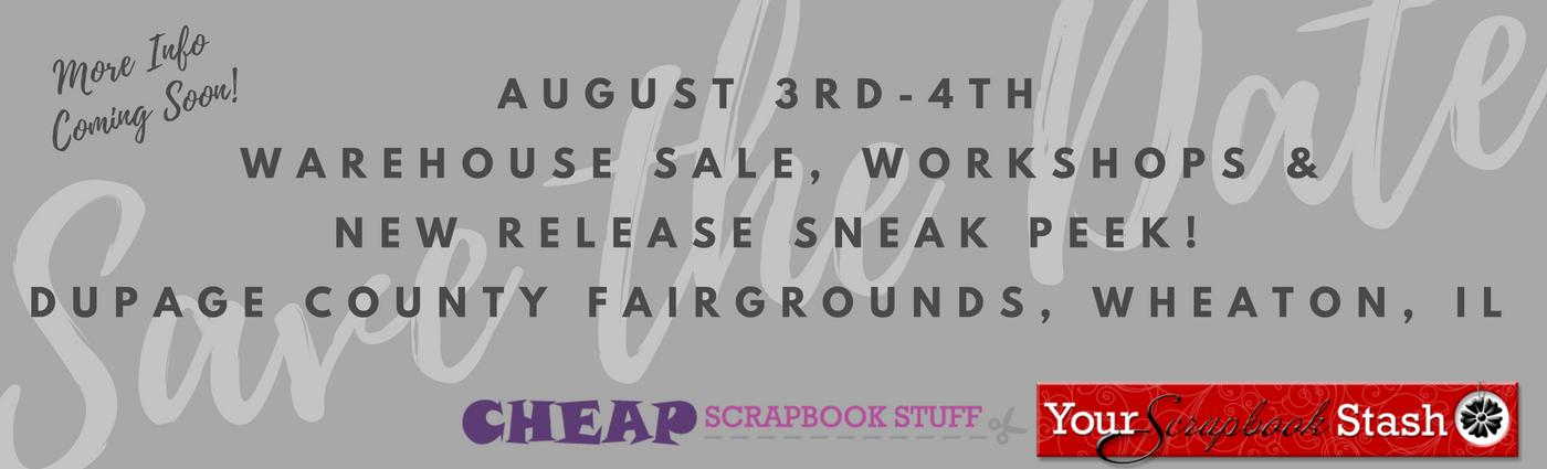 August 3rd-4th - Warehouse Sale & Workshops