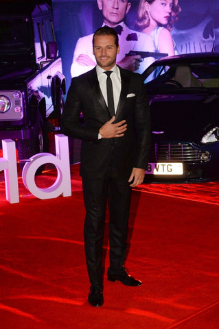 James Hill wearing Vis Vires at James Bond Spectre movie premier