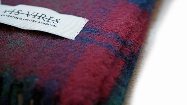 Vis Vires Highlands Scarf Collection - Lindsay Mod - made in scotland with 100% pure brushed lambs wool