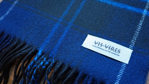 Vis Vires Highlands Scarf Collection - Patriot Made in Scotland with 100% pure brushed lambs wool