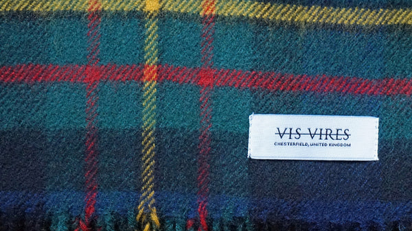 Vis Vires Highlands Scarf Collection - Maclaren mod Made in Scotland with 100% pure brushed lambs wool