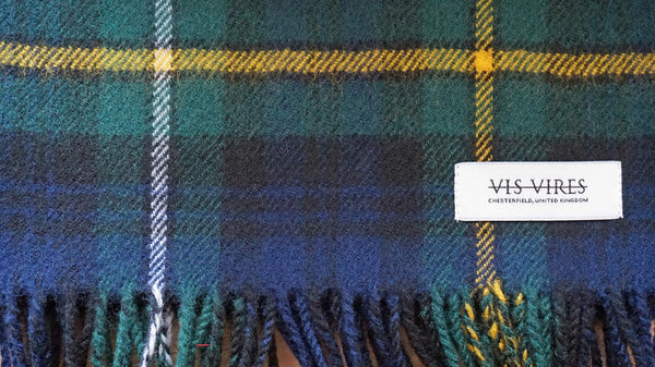 Vis Vires Highlands Scarf Collection - Campbell of argyle Made in Scotland with 100% pure brushed lambs wool