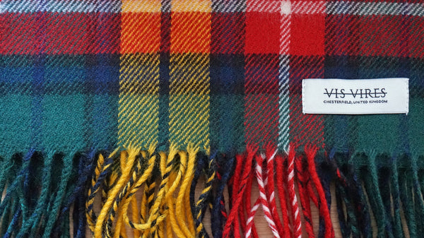 Vis Vires Highlands Scarf Collection - Buchanan mod Made in Scotland with 100% pure brushed lambs wool