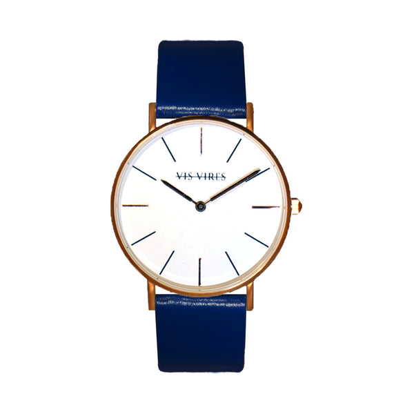 Ocean Blue Rose Gold Watch 36mm Vis Vires