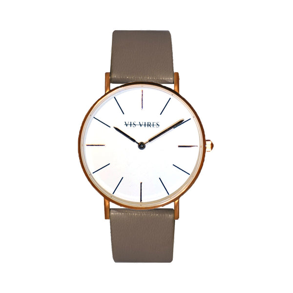 Pebble Grey Rose Gold Watch 36mm Vis Vires