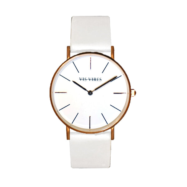 Coco White Rose Gold Watch 36mm Vis Vires