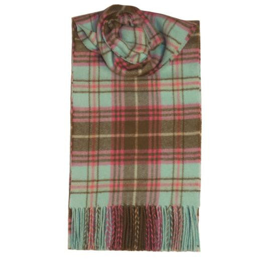 Vis Vires Highlands Scarf Collection - Roslin Plaid Made in Scotland with 100% pure brushed lambs wool