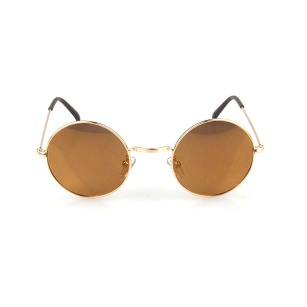 polarised brown sunglasses gold frame