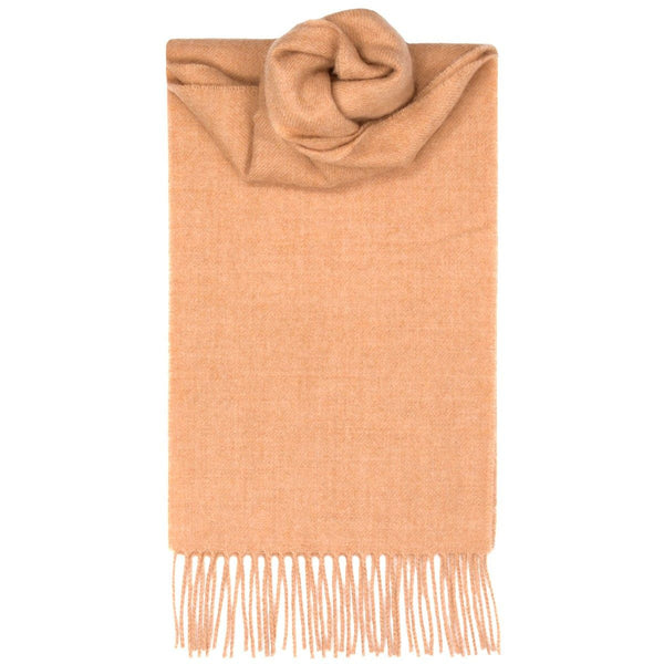Vis Vires Highlands Scarf Collection - Camel made in scotland 100% pure brushed lambs wool
