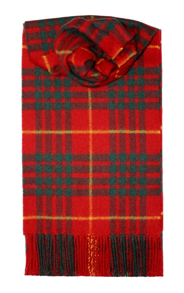 Vis Vires Highlands Scarf Collection - Cameron clan mod Made in Scotland with 100% pure brushed lambs wool
