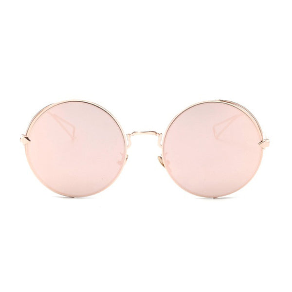 mirrored rose gold sunglasses gold frame