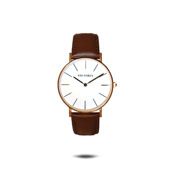 Vis Vires Chesterfield Watch 36mm Woman Rose Gold