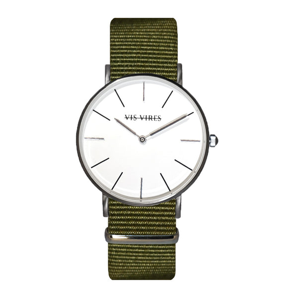 Vis Vires Womens Khaki Timepiece 36mm silver