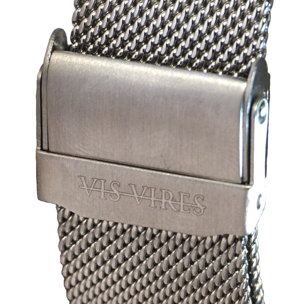 Sterling Silver Mesh Watch 40mm Vis Vires