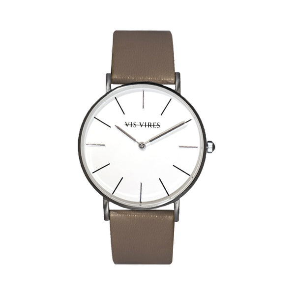 Pebble Grey Silver Watch 36mm Vis Vires