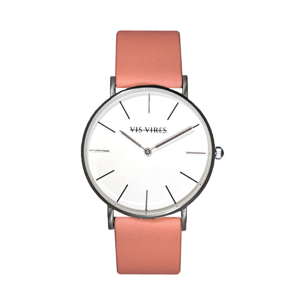 Candy Pink Silver Watch 36mm Vis Vires