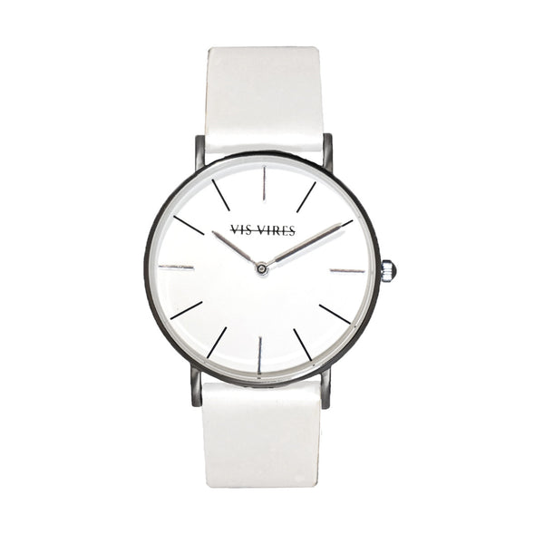 Coco White Silver Watch 36mm Vis Vires