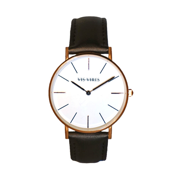 Vis Vires Visionnaire Timepiece Rose Gold 40mm Mens