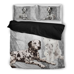 Dalmatian 4 Duvet Bedding Set Black