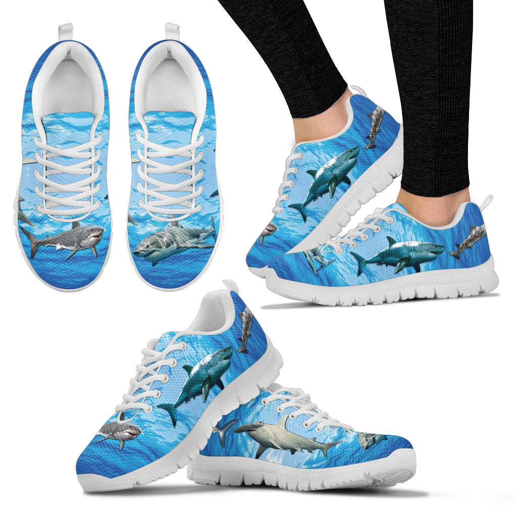 Shark Pattern Sneakers