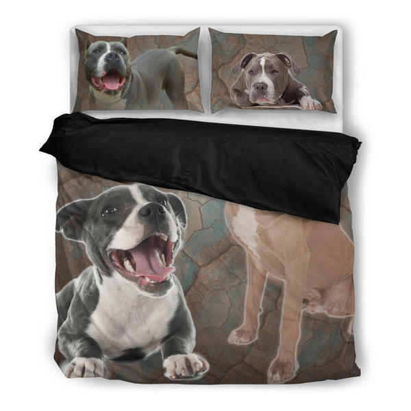 Pit bull 4 Duvet Bedding Set Black